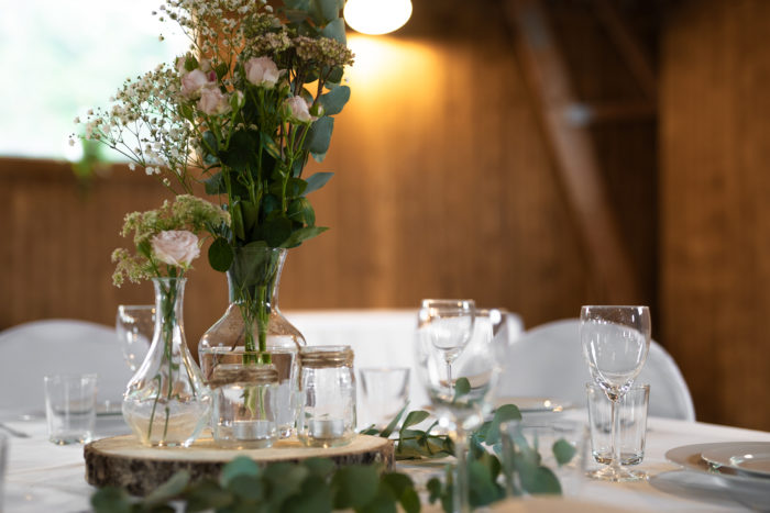 Bröllopsdekoration på Båraps Loge, Jönköping